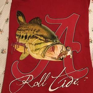 Guy Harvey Alabama bass fish tee shirt M new